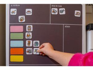 Domácí tabule Family Flow s přiloženými magnety
